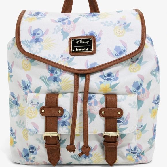 191504438fd Loungefly Disney Lilo   Stitch Drawstring Backpack